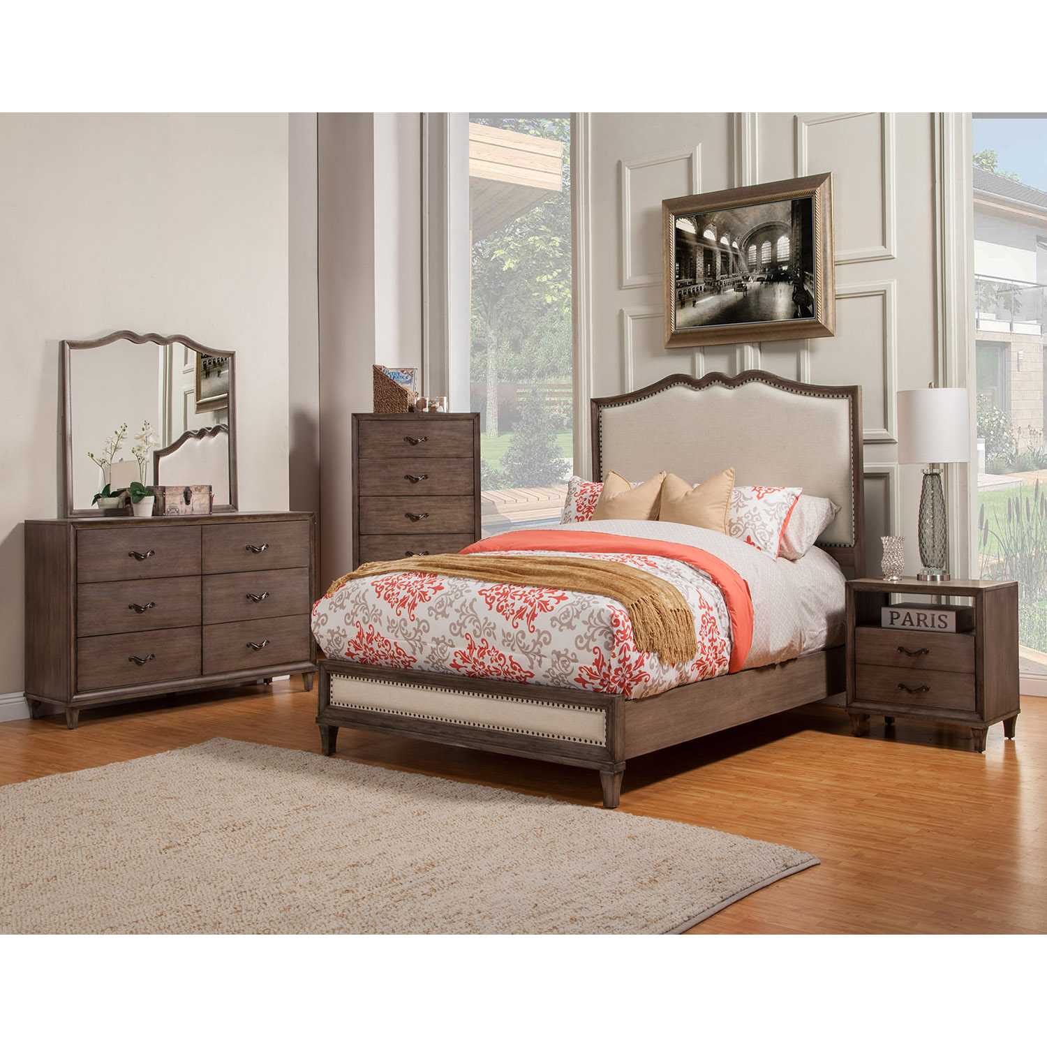 charleston bedroom set - antique gray | dcg stores