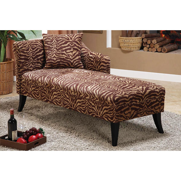 Patterson chenille chaise lounge chair dcg stores for Armen living patterson chenille chaise lounge