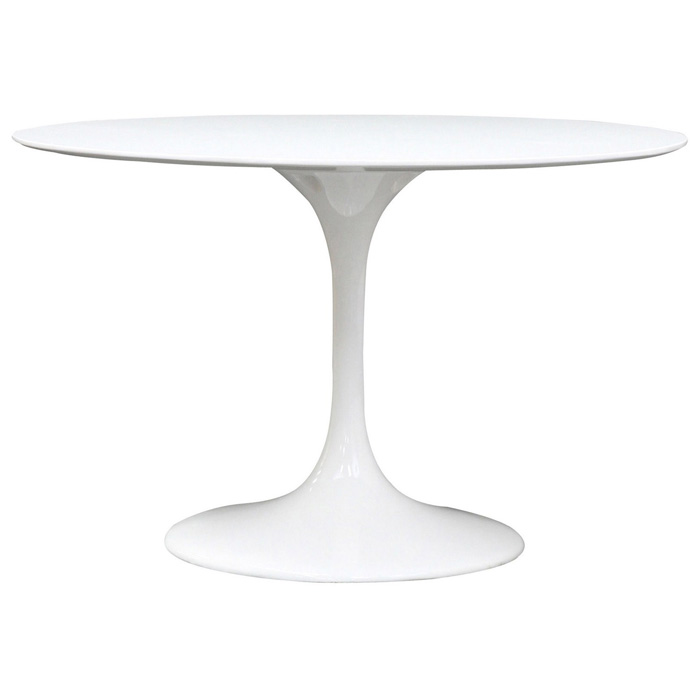 Lippa saarinen inspired fiberglass round dining table in for 11x table
