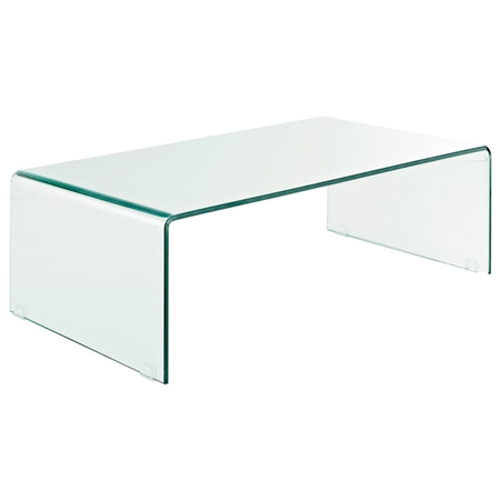 Transparent Bent Glass Coffee Table Dcg Stores