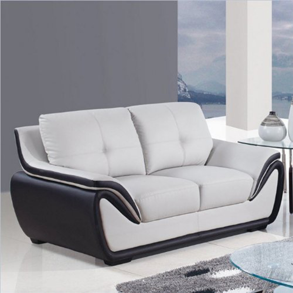 Bryson sofa set in gray and black dcg stores for Black and grey sofa set