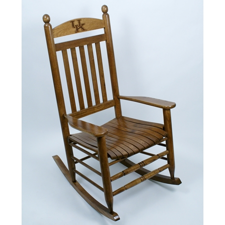 Kentucky Wildcats Rocking Chair Maple Finish Dcg Stores