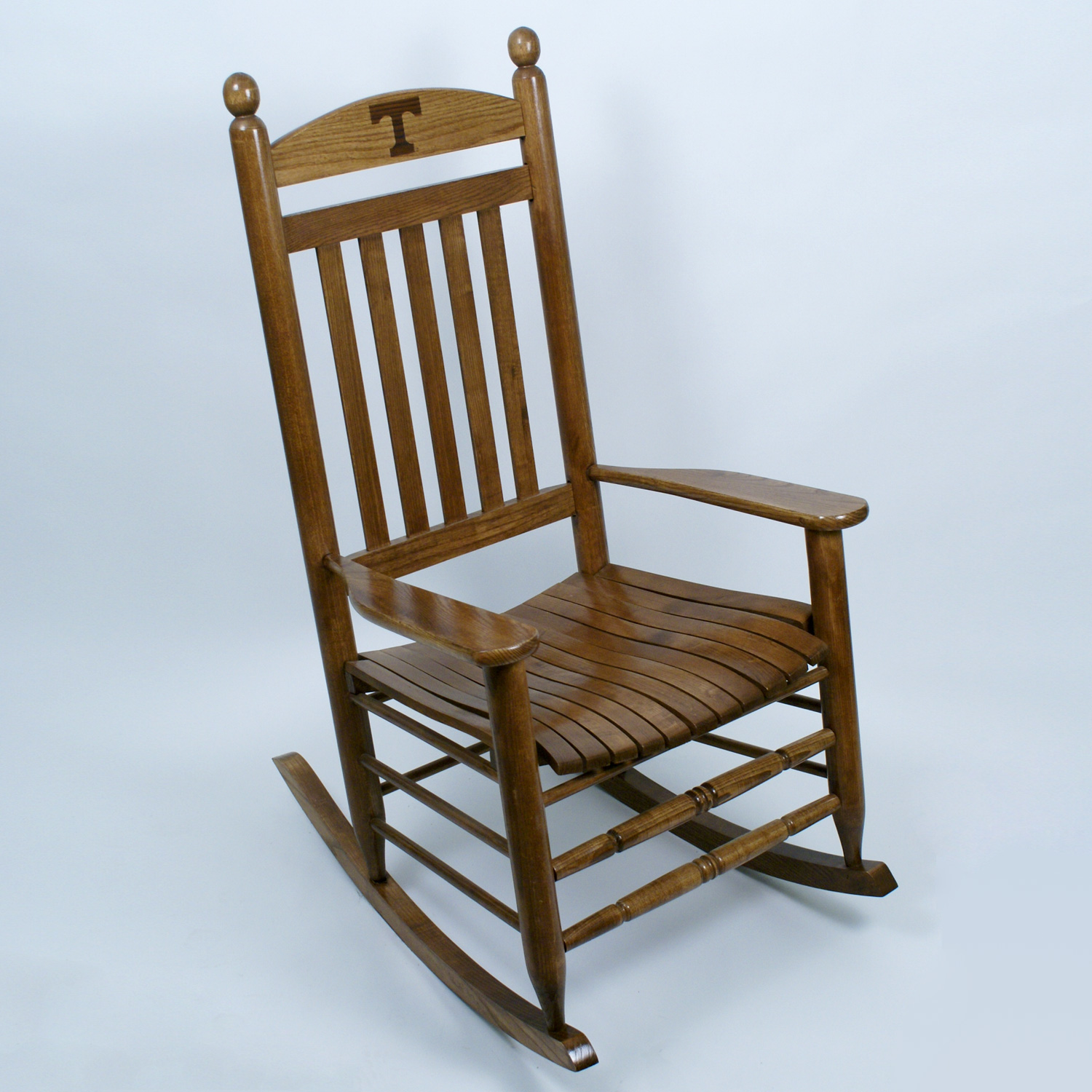 Tennessee Volunteers Rocking Chair Maple Finish Dcg Stores