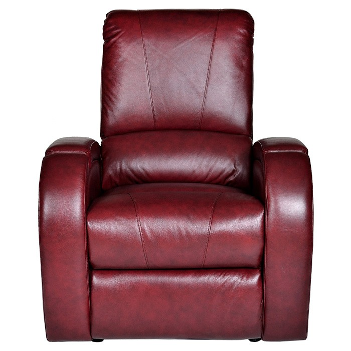 Monte Carlo Power Recliner Chair Hayes Dark Red Leather