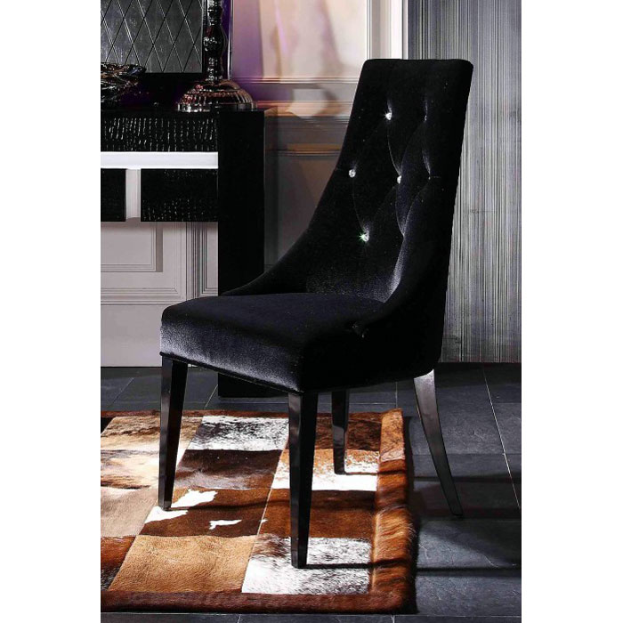 Armani Xavira Black Velour Dining Chair DCG Stores : aa031 dc from dcgstores.com size 700 x 700 jpeg 87kB